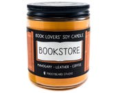 Bookstore - 8 oz Book Lovers' Soy Candle - Book Candle -  Book Lover Gift - Scented Soy Candle - Frostbeard Studio