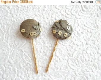 CLEARANCE - Olive sequin sparkle hairpins,  hair jewelry, hair accessory, womens accessory