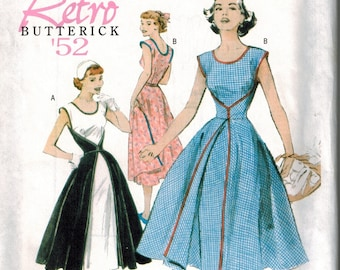 OOP Butterick 4790 Retro Wrap Dress Sewing Pattern Sizes 16-18-20-22 Reissue from 1952