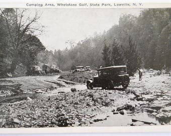 Vintage Postcard Camping • Lowville New York Camping Whetstone State Park