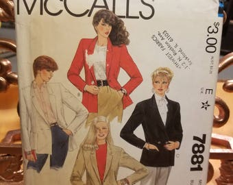 Vintage McCalls 7881 Sewing Pattern