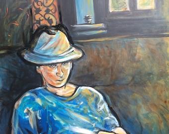 Wall Art  - Art Print - Blue in Yellow Light - Leah Reynolds