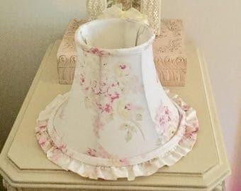 Rachel Ashwell Simply Shabby Chic Lamp Shade Pink White Cream Vintage British Rose Romantic Cottage Farmhouse Decor