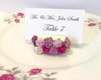 15% off ends at 5pm Flower Place Card Holder + Floral Place Card Holders + Garden Wedding (Set of 25)