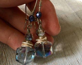 Sky Blue Sparking Earrings