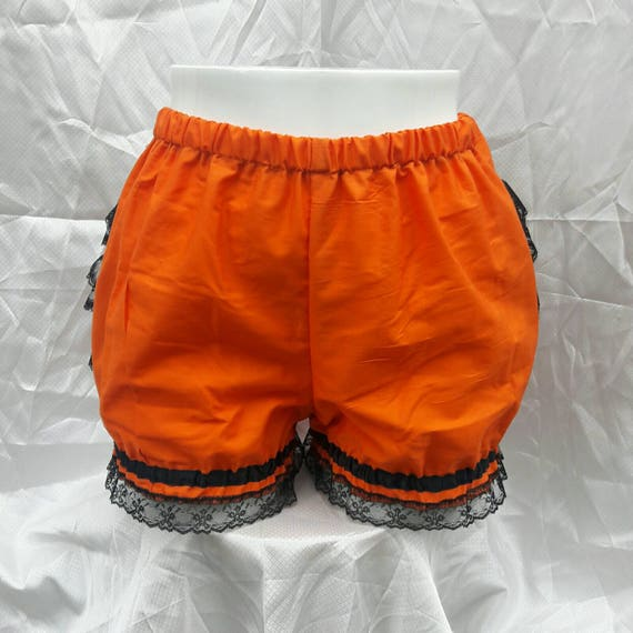 Orange and black Halloween pumpkin Micro mini bloomers adult women by ichigoblack steampunk buy now online