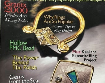 CLEARANCE Lapidary Journal Jewelry Arts GrantsTips on Ring Design Hollow PMC Meteorite Ring Project Gems from the Sea August 2000
