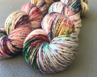 Welcome Christmas Set: Hand Dyed Speckle Yarn Bundle for Knitters & Crochters