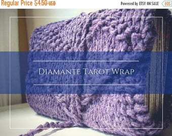 Summer Solstice Sale Knitting Pattern for Diamante tarot wrap / tarot pdf / easy knitting pattern / pagan knit pattern / tarot knit pattern