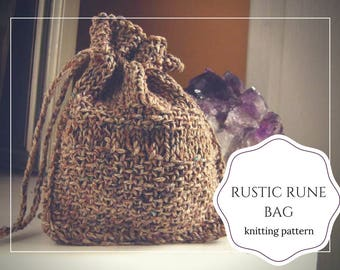 Rune bag pattern / easy knit pouch / rune pouch pattern / crystal bag pattern / rune bag diy / rune pouch tutorial / diy oracle pouch