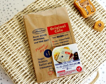 Japanese Kraft Paper Wrapping Bag - Original Cafe