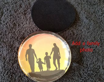 Glass Paperweight with Custom Etching