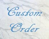 Custom order for Holly, Howlite ring