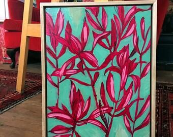 Everything Dances Original Acrylic Painting Framed Wall Art