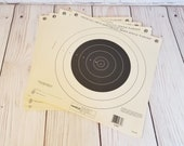 Vintage NRA 100 Yard Small Bore Rifle Paper Target Set of 4 Bulls Eye Style