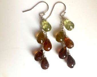 Glorious Garnet Cascade Drop Earrings - One Available
