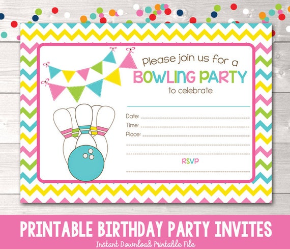 Printable bowling party invitation fill in the blank birthday party il570xn filmwisefo