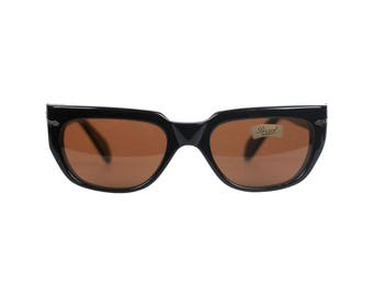 Authentic PERSOL RATTI Vintage Black Acetate Meflecto 829 55-20 Sunglasses NOS