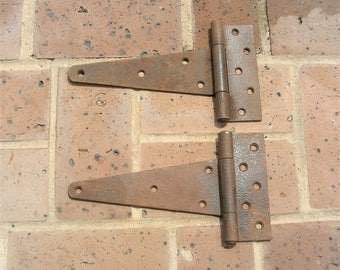 Antique Vintage Iron Barn Hinges Antique Vintage Metal Iron Barn Door Hinges 10 Inches
