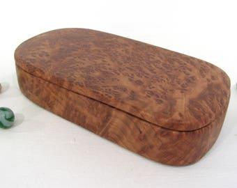 Lace Redwood Wooden Box, Oregon, wood art, bracelet box, presentation box, jewelry box, guitar pick box, outdoorsy gift, Fathers Day Gift
