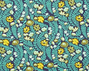Wildflower Sapphire PWTP073  - Eben by Tula Pink for Freespirit Fabrics -  100% Quilters Cotton
