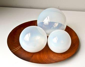 3 Opalite Opalescent Crystal Healing Round Orb Gemstone Energy Sphere