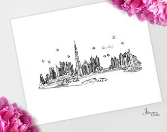 Dubai - Asia/Pacific - Instant Download Printable Art - City Skyline Series