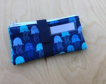 Cash Envelope Set - Kids Cash Envelopes - Simple Cash Envelope Set - Jellyfish - Save Spend Give - US Dollar Bill or Change Purse