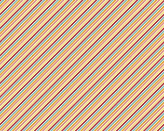 Wistful Winds Colorful Multi Stripe Fabric ~ Doohikey Designs for Riley Blake ~ Sold by the Yard