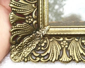 SUMMER SALE Vintage Gold photo frame mid century  Glamourous Filigree matted frame