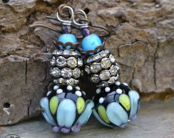 Spring Bling Lampwork Earrings