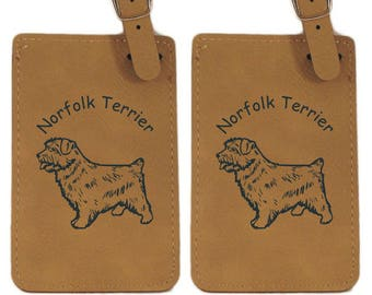 L3605 Norfolk Terrier Personalized Luggage Tag