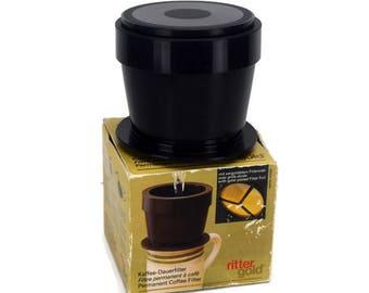 Rittergold Permanant Coffee Filter Pour Over Gold Filter NOS Original Box Kaffee-Dauerfilter