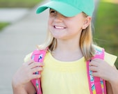 Mint Kids Monogram Ball Cap~Youth Hat~Personalized Hat