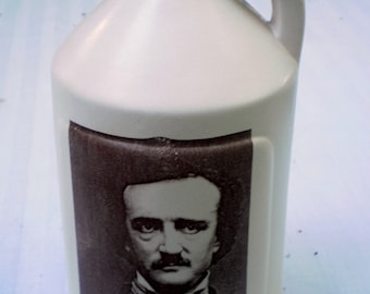Edgar Allen Poe small jug moonshine whiskey handmade