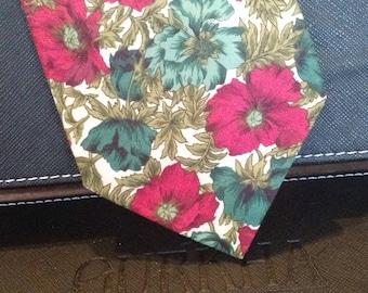 Priatti - Vintage Necktie - Floral Print - Free U.S. Shipping