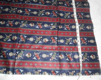 "Vintage Cranston ""GOLF"" Themed Cotton Fabric 1 yard x 45"" w"