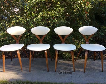 rare vintage norman cherner plycraft side chairs mid century plycraft bentwood norman cherner chair