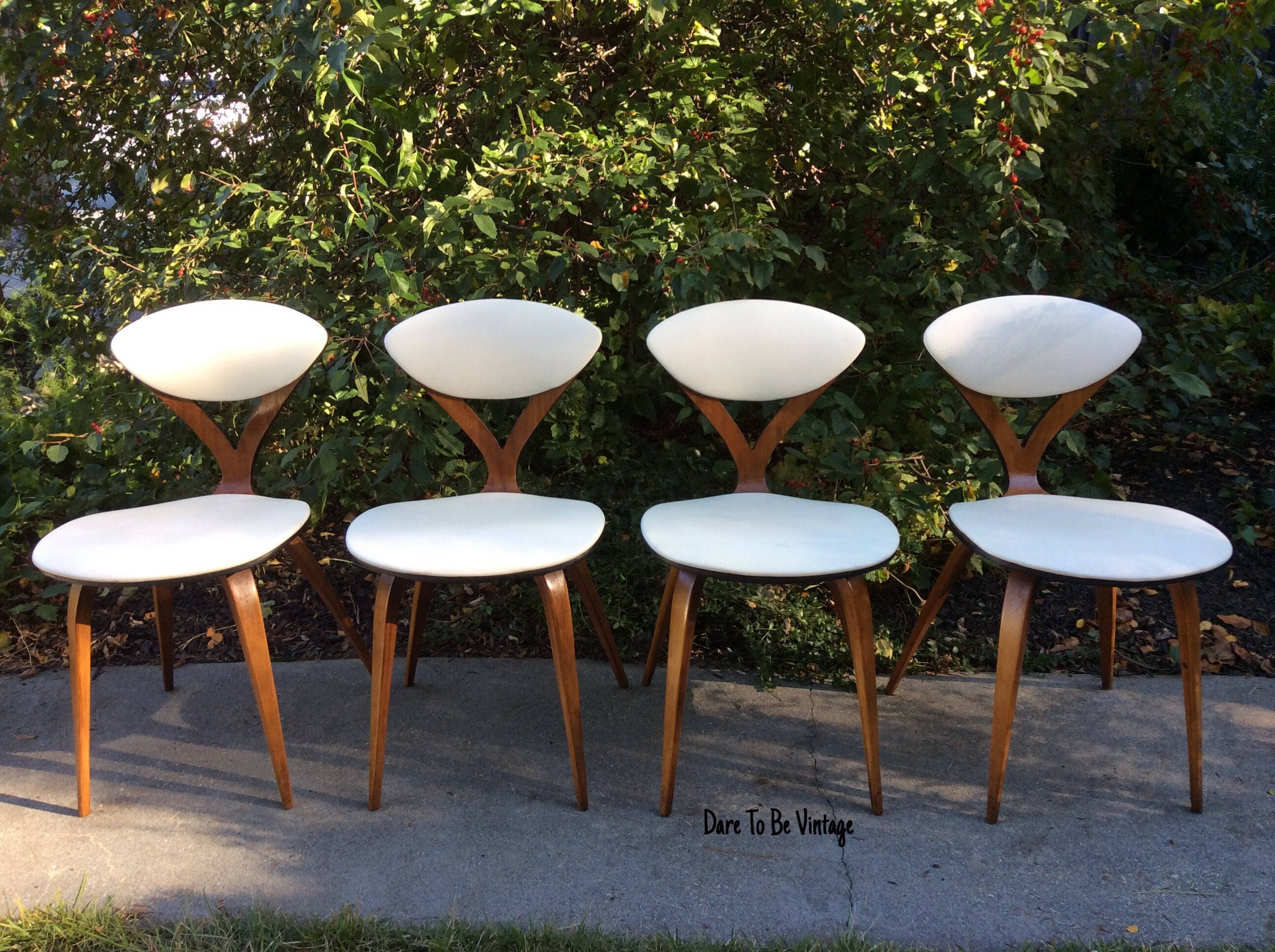 Rare Vintage Norman Cherner Plycraft Side Chairs Mid Century