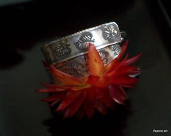 silver leaf earrings handmade Eco friendly silver earrings boho gypsy OOAK