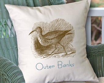 Customized Sandpiper pillow (INCLUDES PILLOW INSERT)