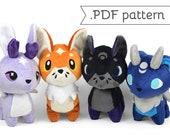 Fox and Hare Chibi Plush Sewing Pattern .pdf Tutorial