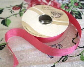 Vintage Pink Primrose Moire Ribbon