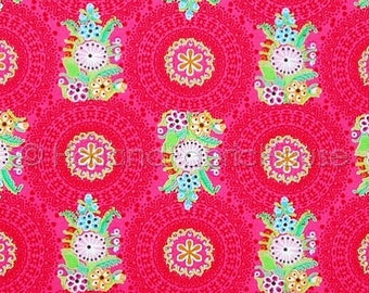 FINAL CLEARANCE SALE Cotton floral fabric, flowers cotton fabric, floral fabric, fuchsia fabric, Spark of happiness, pink fabric, dutch desi