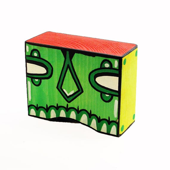 Funk Totem Part No. 261 - Original Mixed Media Block - Vol. 12