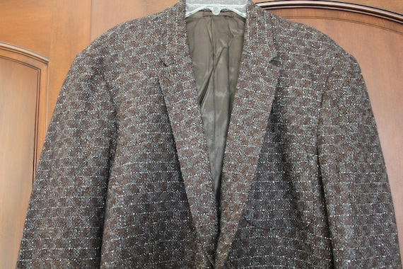 Vintage Atomic 3 Pocket Blazer Jacket by Tailor Chow, Rockabilly 60s Mens Suit Jacket