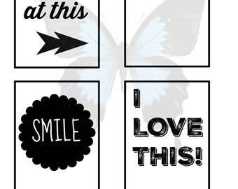 Scrapbook Journaling Document Style Scrapbooking Cards Everyday Phrases, 3x4, Digital, Instant Download, Project Life Inspired