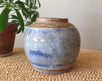 Light Blue Round Vase