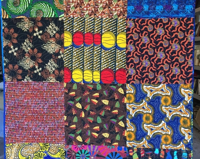 Bazaarly Big and Beautuful #2 lap quilt or wallhanging