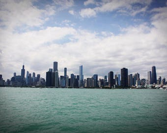 Chicago Illinois Skyline During the Day Color Photo Nature FREE US SHIPPING